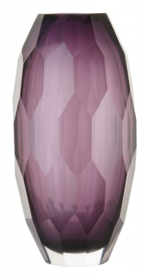 RV Astley Abril Purple Faceted Glass Vase