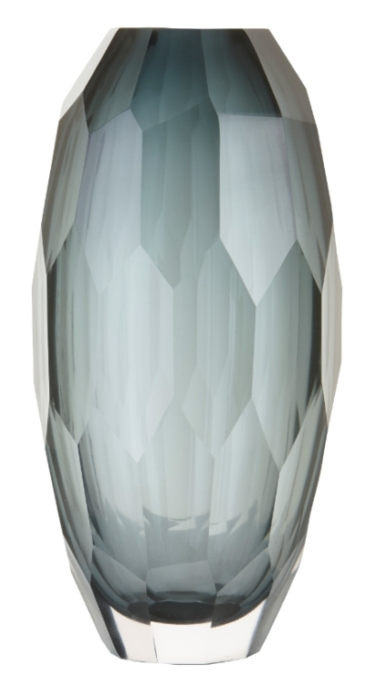RV Astley Lucia Grey Faceted Vase
