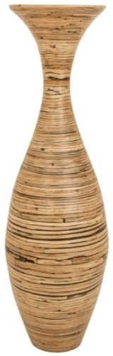 RV Astley Tall Matt Natural Bamboo Vase