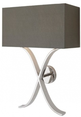 RV Astley Byton Nickel Wall Lamp with Shade