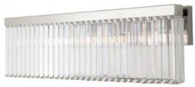 RV Astley Melton Nickel And Crystal Wall Light with Shade - Long