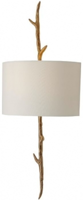 RV Astley Nostelle Solid Brass Wall Lamp Left with Shade