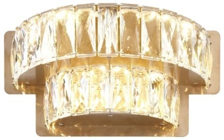 RV Astley Ginnes Crystal 2 Tier Wall Light