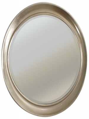 RV Astley Antique Silver Oval Mirror