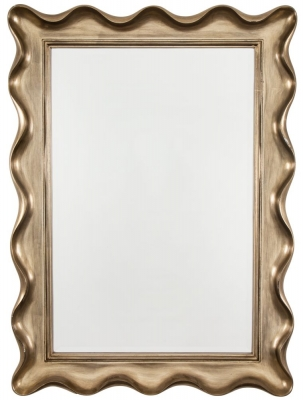 RV Astley Antique Silver Wavy Framed Mirror