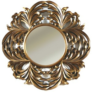 RV Astley Round Leaf Framed Mirror