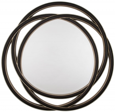 RV Astley Round Mirror - Black Gloss