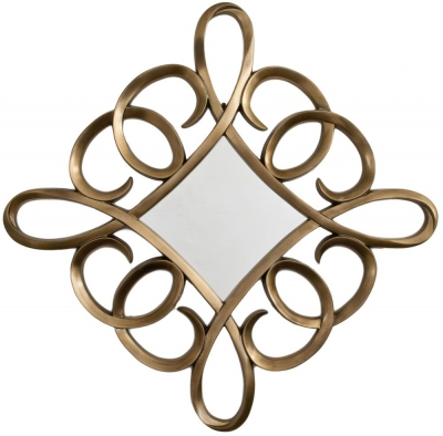 RV Astley Square Swirl Mirror in Bronze Leaf