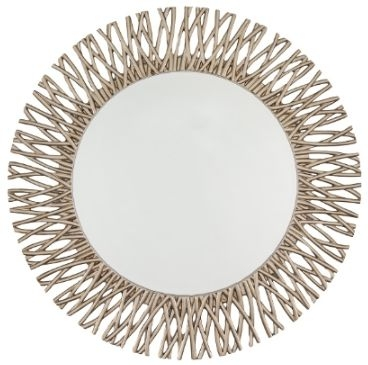 RV Astley Adel Round Mirror Champagne