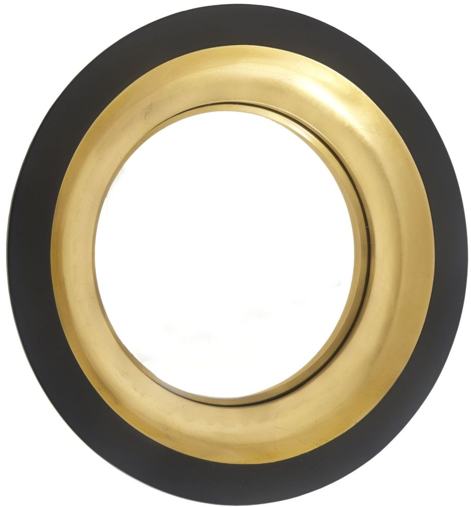 Buy rv astley alne black and gloss with gold leaf frame convex rv astley alne black and gloss with gold leaf frame convex mirror jeuxipadfo Images