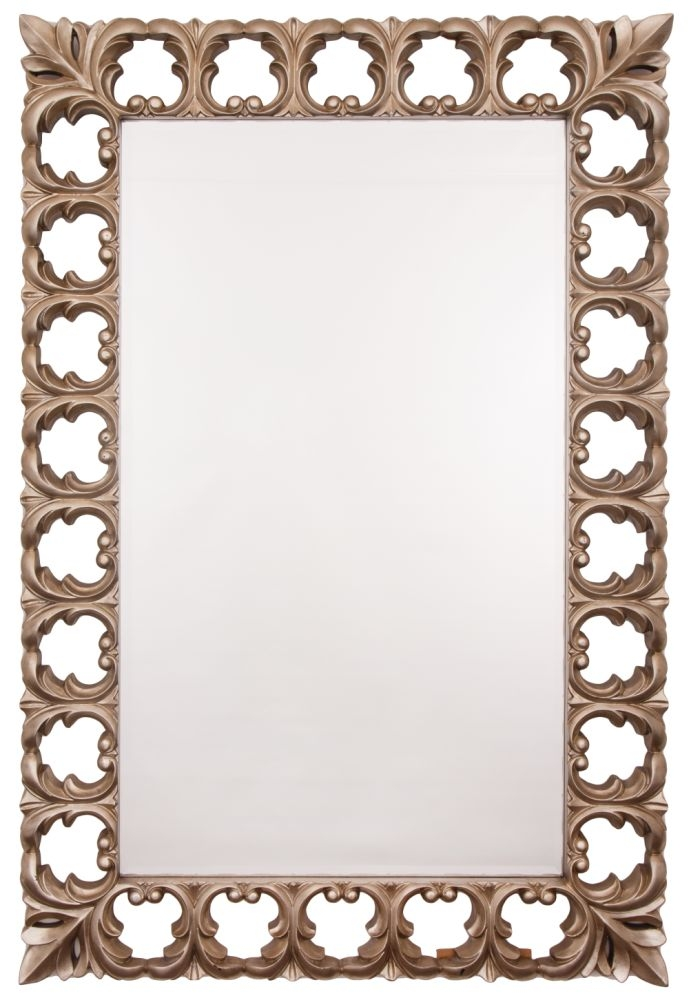 RV Astley Antiqued Silver Rectangular Mirror