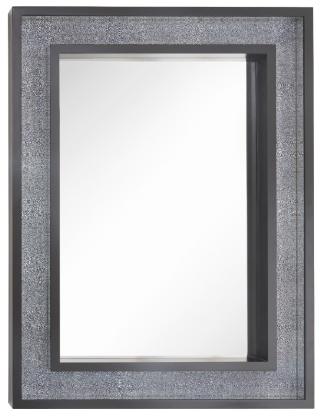 RV Astley Becket Black Wall Mirror - Rectangular