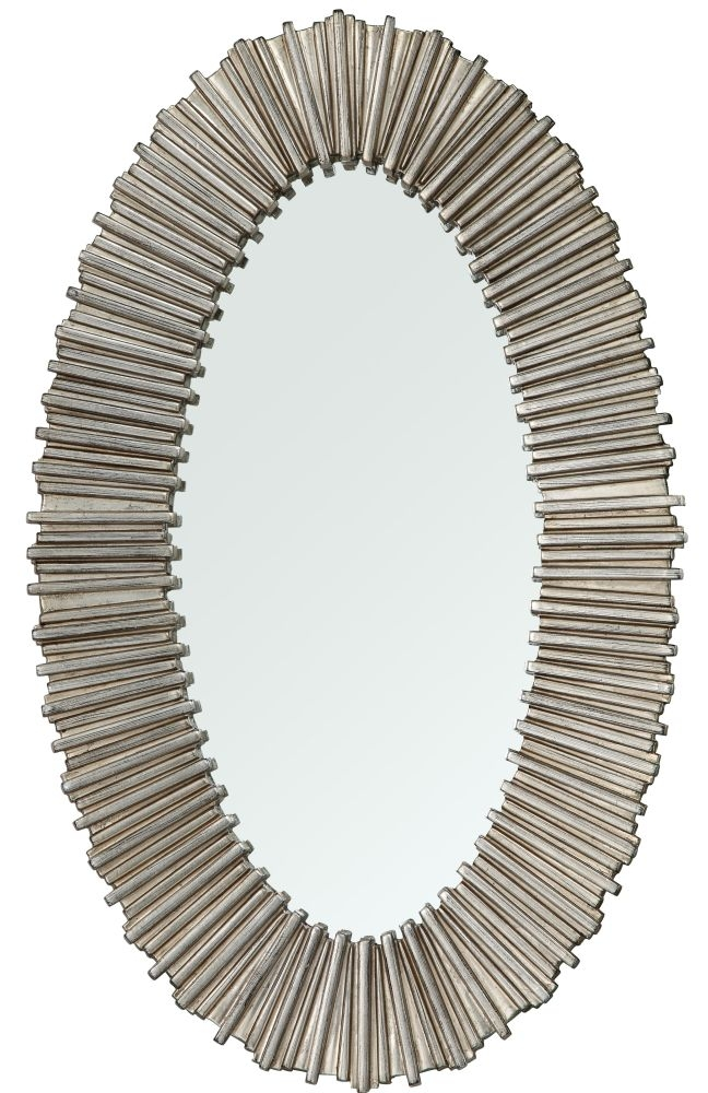 RV Astley Dagny Distressed Silver Wall Mirror - Oval