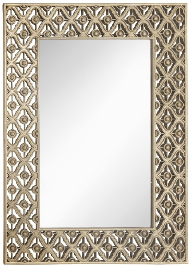 RV Astley Edith Antique Brass Wall Mirror - Rectangular