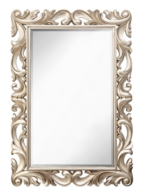 RV Astley Iria Champagne Silver Rectangle Mirror