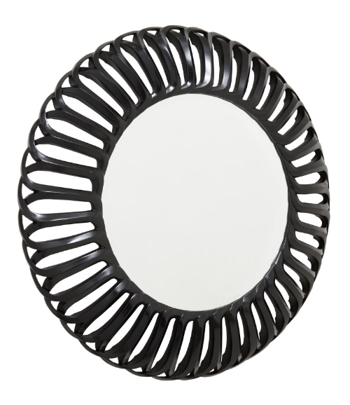 RV Astley Murcia Semi Black Round Mirror