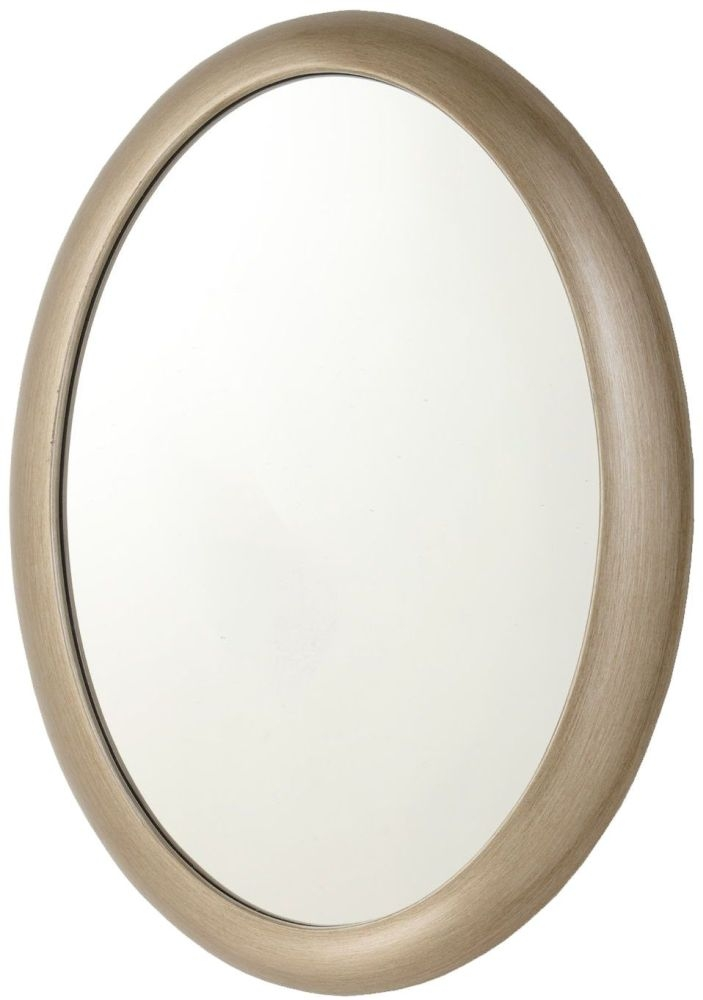RV Astley Quin Pale Brass Oval Mirror