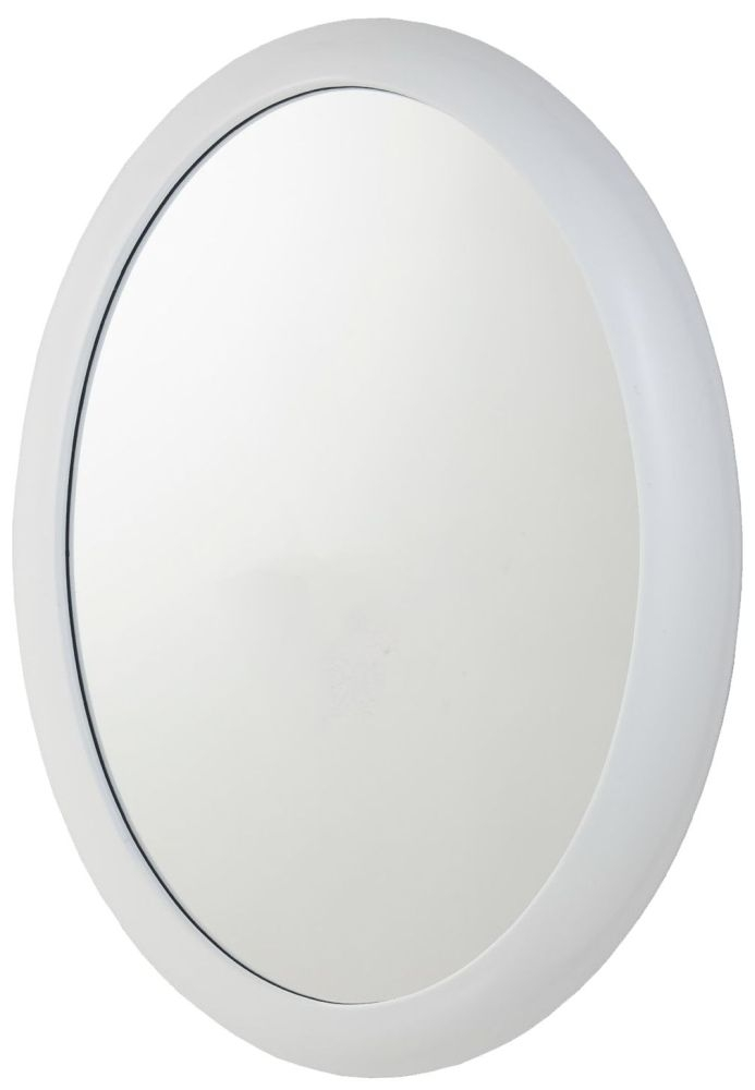 RV Astley Quin White Oval Mirror