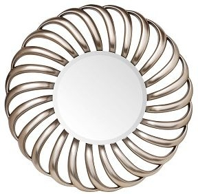 RV Astley Round Champagne Finish Mirror