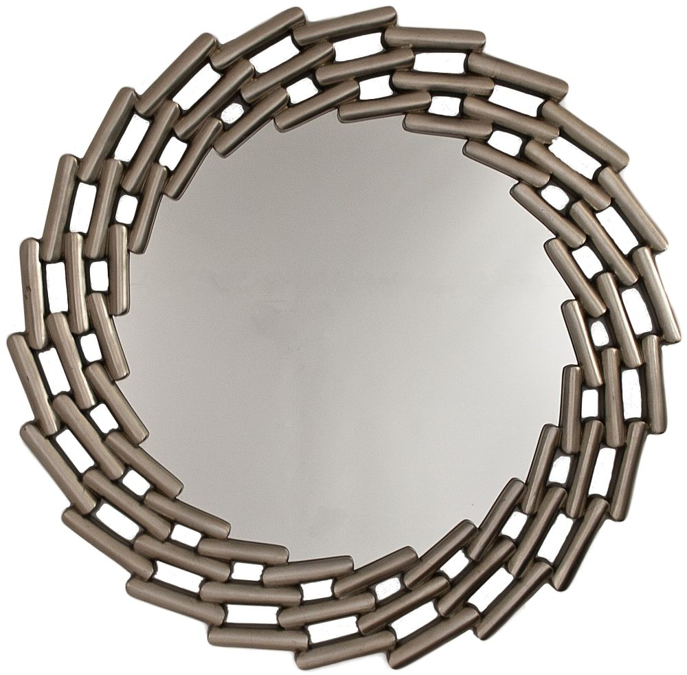 RV Astley Round Mirror - Antique Silver Finish
