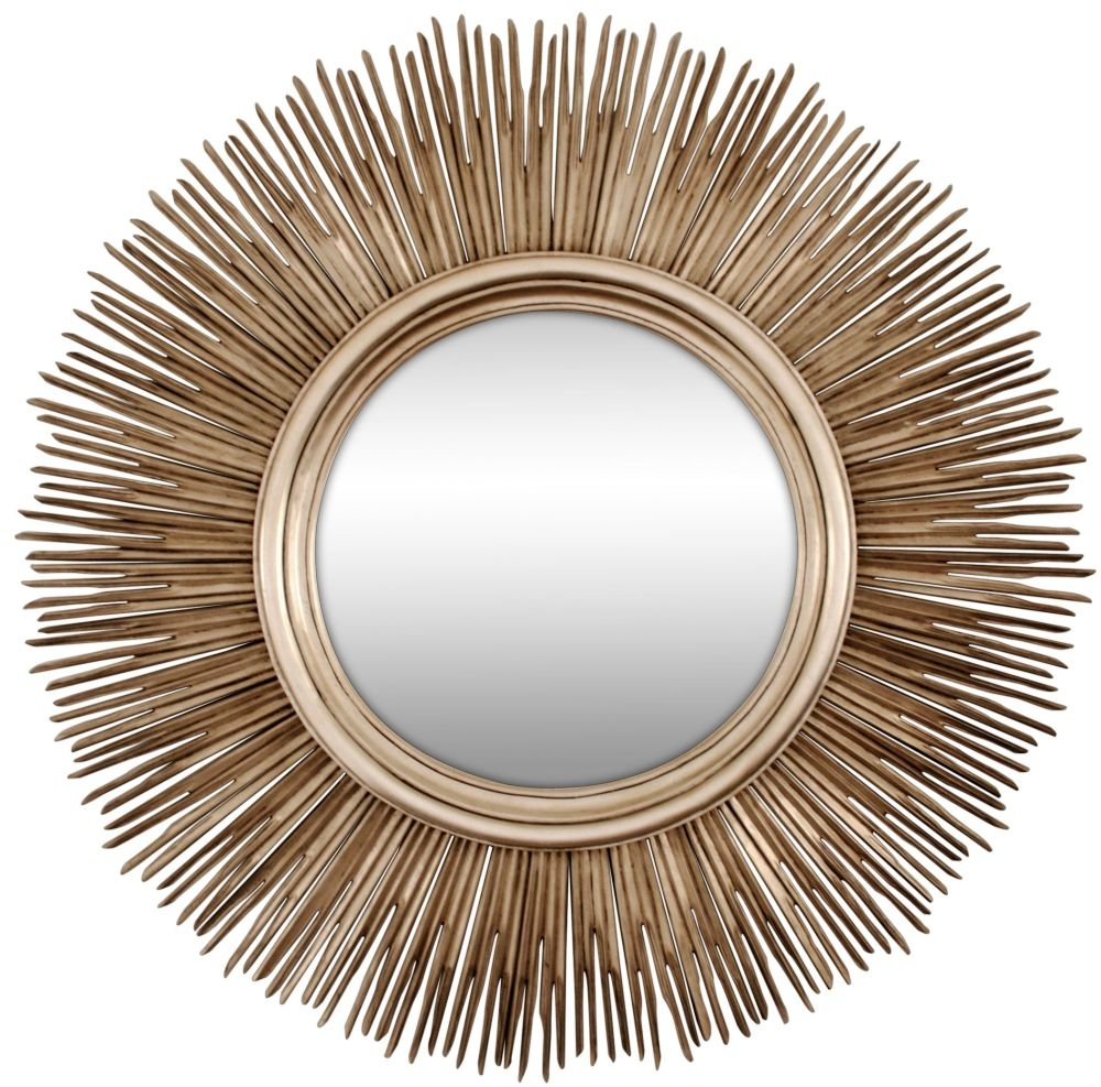 RV Astley Sun Antique Silver Mirror - Sunburst