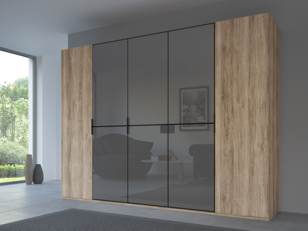 Rauch 20UP Front 1A Wardrobe with Glossy Glass Front