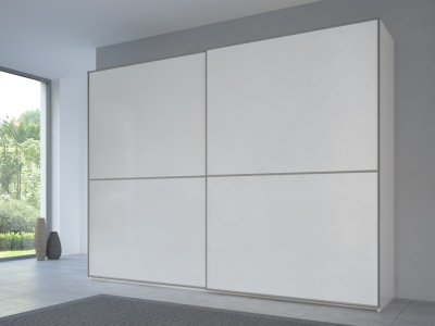 Rauch 20UP Front 2A Sliding Wardrobe with Matt White Front