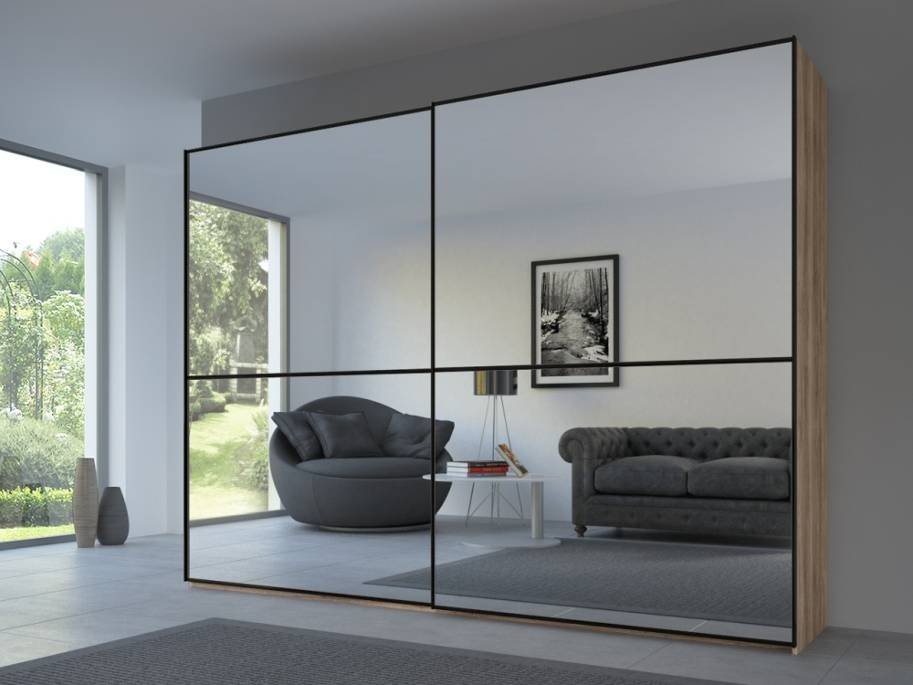 Rauch 20UP Front 2A Sliding Wardrobe with Mirror Front