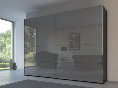 Rauch 20UP Front 3A Sliding Wardrobe with Glossy Glass Front
