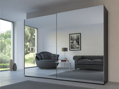 Rauch 20UP Front 3B Sliding Wardrobe with Mirror Front