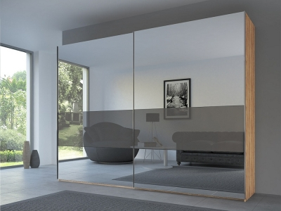 Rauch 20UP Front 3B Sliding Wardrobe with Mixed Mirror Front