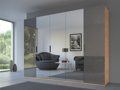 Rauch 20UP Front 3B Wardrobe with Mixed Mirror Front