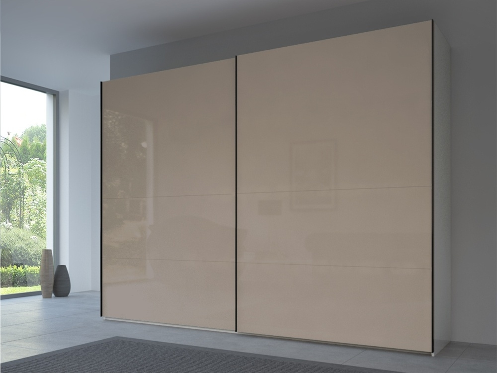 Rauch 20UP Front 3B Sliding Wardrobe with Glossy Glass Front