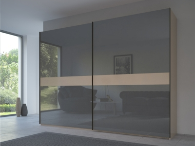Rauch 20UP Front 4A Sliding Wardrobe with Glossy Glass Front