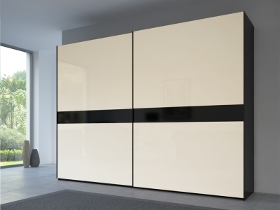 Rauch 20UP Front 4A Sliding Wardrobe with Matt Glass Front