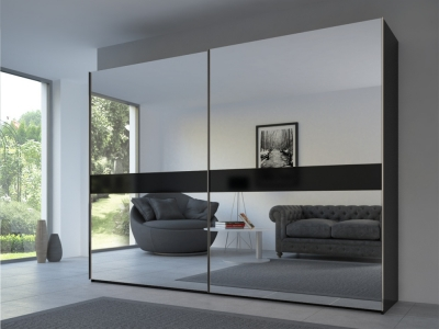 Rauch 20UP Front 4A Sliding Wardrobe with Mirror Front