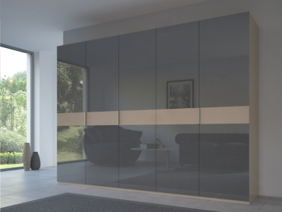 Rauch 20UP Front 4A Wardrobe with Glossy Glass Front