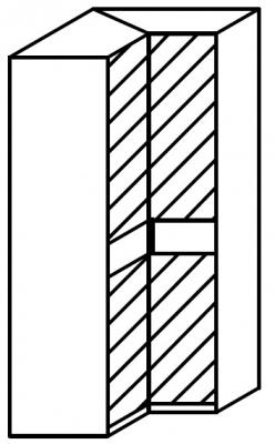 Rauch 20UP Front 4A Corner Wardrobe