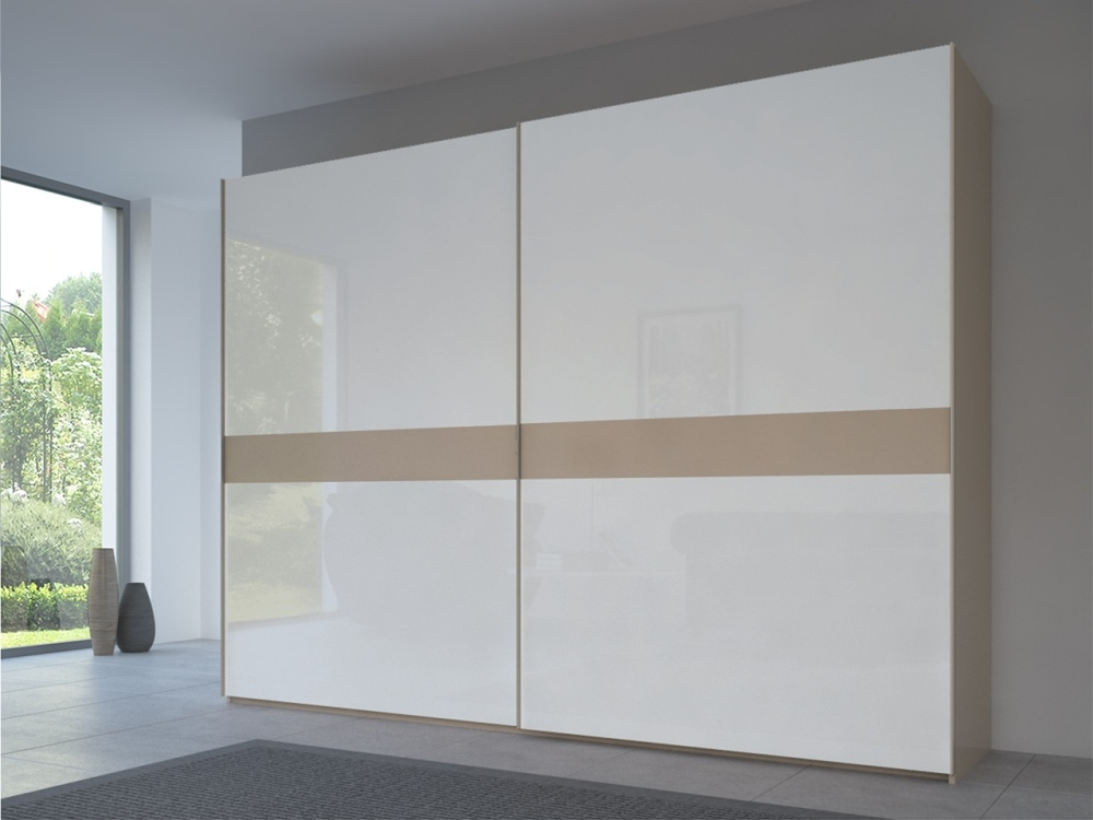Rauch 20UP Front 4A Sliding Wardrobe with High Gloss White Front