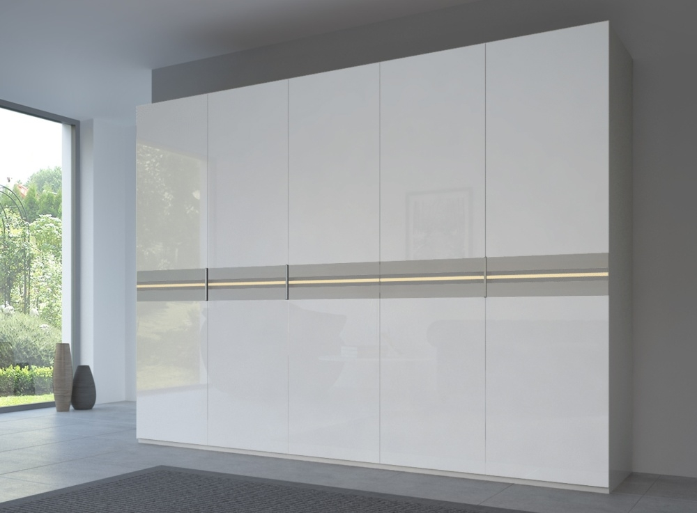 Rauch 20UP Front 4B Wardrobe with High Gloss White Front