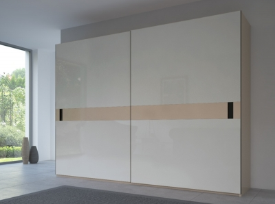 Rauch 20UP Front 5B Sliding Wardrobe with Glossy Glass Front