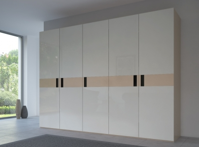 Rauch 20UP Front 5B Wardrobe with Glossy Glass Front