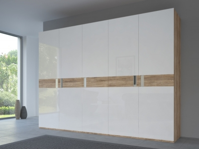 Rauch 20UP Front 5B Wardrobe with High Gloss White Front