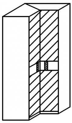 Rauch 20UP Front 5B Corner Wardrobe