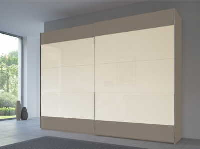 Rauch 20UP Front 6A Sliding Wardrobe with Matt Glass Front