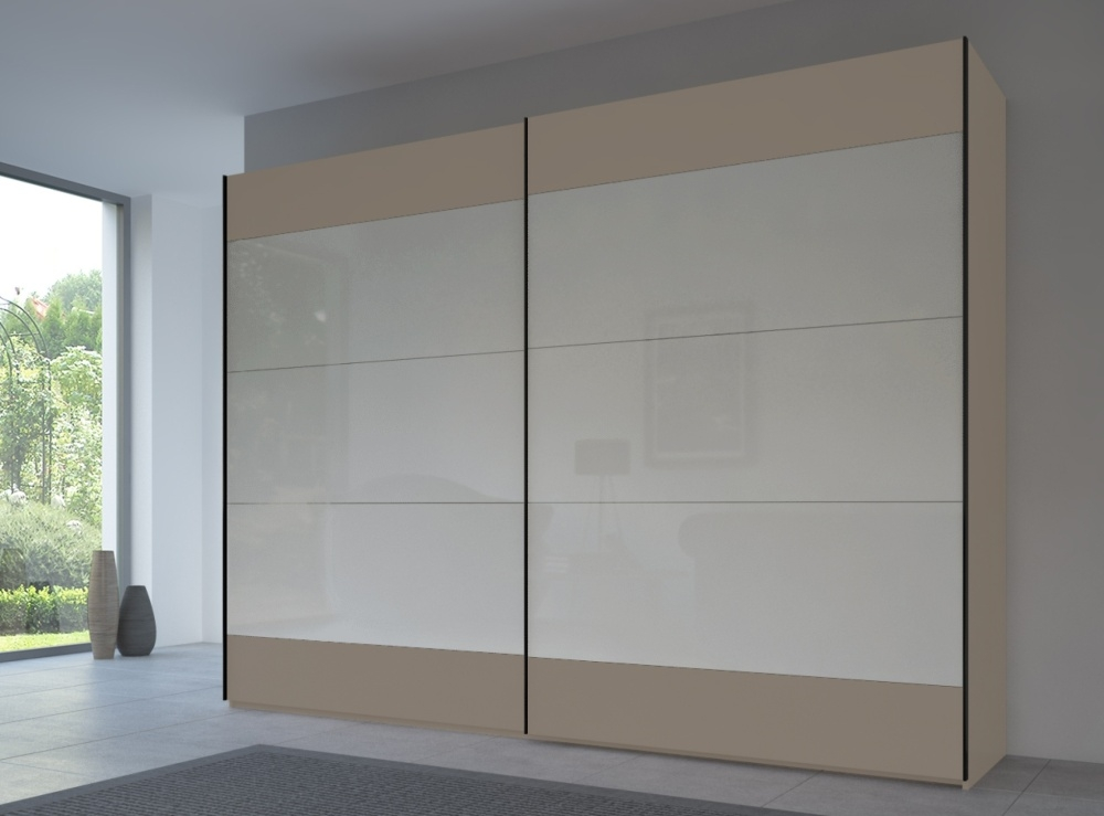 Rauch 20UP Front 6A Sliding Wardrobe with Glossy Glass Front