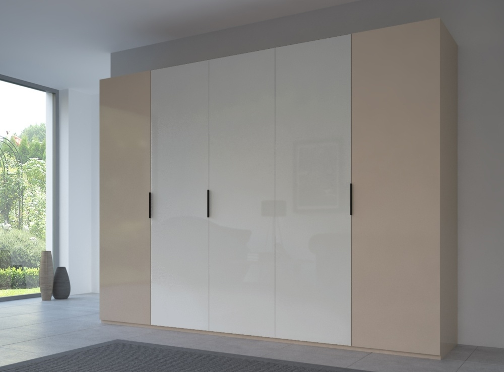 Rauch 20UP Front 6A Wardrobe with Glossy Glass Front