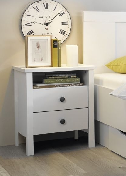 Rauch Agnetha White Bedside Cabinet
