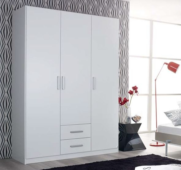 Rauch Albero 2 Door 2 Drawer Combi Wardrobe in  Alpine White - W 91cm