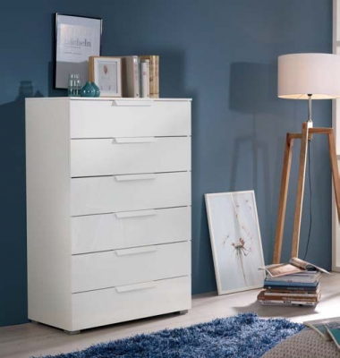 Rauch Aldono Deluxe 6 Drawer Chest in Alpine White - W 80cm